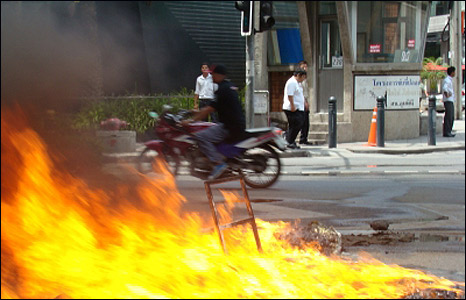 Flames in Bangkok Thailand - image by Ronnie Reid