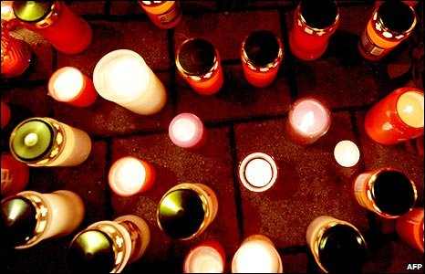 Candles at a shrine