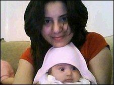 Sehar Shebaz and daughter Wanya