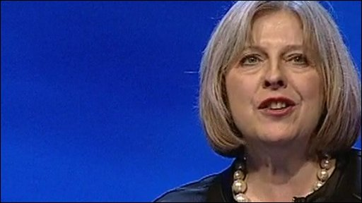 Theresa May, Home Secretary attends the annual conference of the Police Federation of England and Wales in Bournemouth