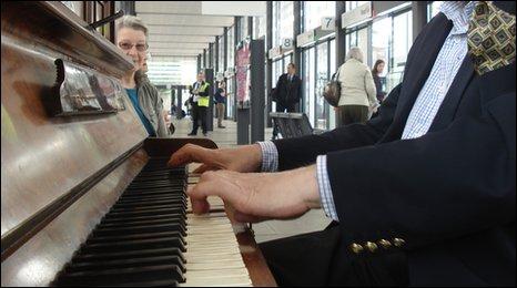Piano at Bath Bus Station