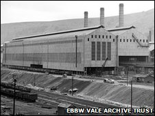 Ebbw Vale Iron and Steelworks 1938