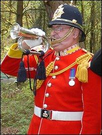 Bugler Jim Cornes