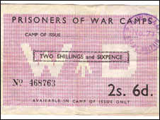 A POW camp voucher. Photo: © Courtesy of Shropshire Regimental Museum, Shrewsbury Castle.