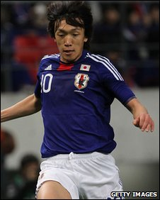 Japan midfielder Shunsuke Nakamura