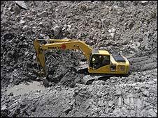 Digger in Hunza