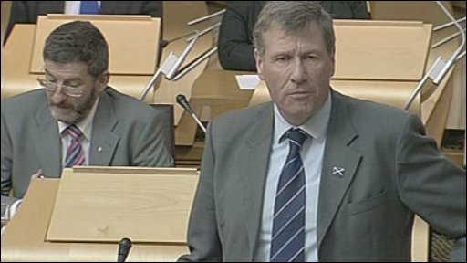 Justice Secretary Kenny MacAskill made the statement on police offers