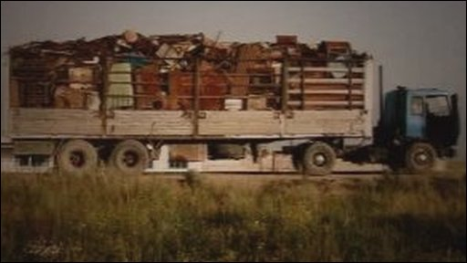 Photograph of scrap lorry