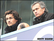 Rui Feria and Jose Mourinho