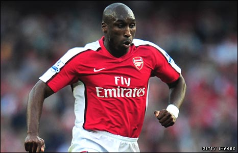 Arsenal defender Sol Campbell