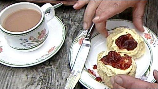 A Devonshire tea