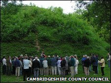 Bartlow Hills, South Cambridgeshire + people