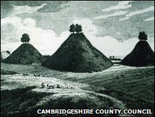 Engraving of Bartlow Hills