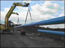 Laying of pipes