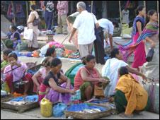 A market in Manipur