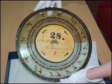 One of Muybridge's zoopraxis discs