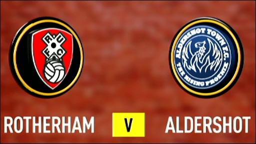 Rotherham 2-0 Aldershot