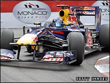 Sebastian Vettel takes the Loews Hairpin in Monaco on Sunday