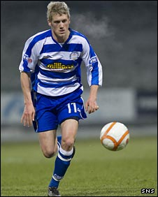 Jim McAlister in action for Morton