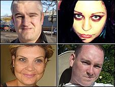 Clockwise from top left: David Fairey, Natalie Wells, Jon Rosling, Danielle Lonnon