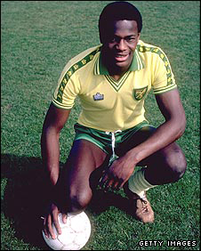 Justin Fashanu in his Norwich City days