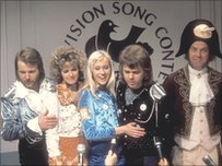 ABBA after winning the Eurovision Song Contest in 1974 with the song 'Waterloo'