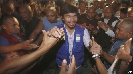 Manny Pacquiao in the Philippines