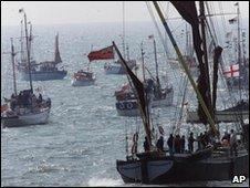 Little ships returning to Dunkirk