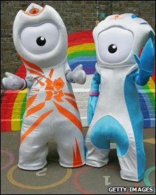 Olympic and Parlympic mascots Wenlock and Mandeville
