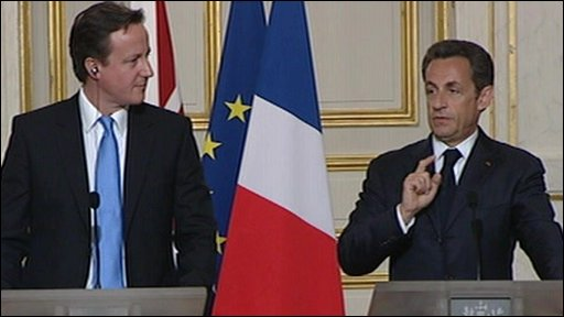 David Cameron and Nicolas Sarkozy