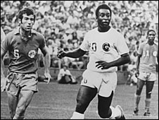 Alan Merrick and Pele with Ace Ntsoelengoe in the background