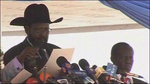 Southern Sudan President Salva Kiir