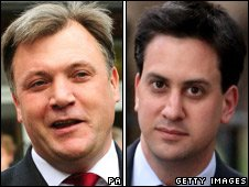 Ed Balls (left) and Ed Miliband
