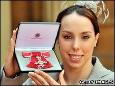 Beth Tweddle with her MBE