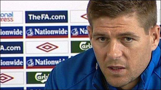 England vice-captain Steven Gerrard