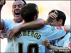 Ormerod and Blackpool celebrate