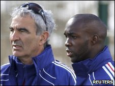 Raymond Domenech and Lassana Diarra