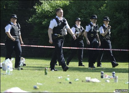 Police at London Fields