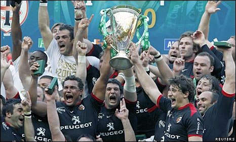 Toulouse celebrate with the Heineken Cup