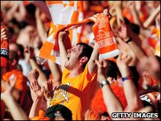Blackpool fans at Wembley