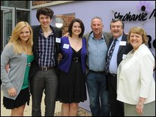 From left to right: Charlotte Marks, Andrew Marks, Victoria Marks, Sir Ian Botham, Chris Marks, Sue Marks