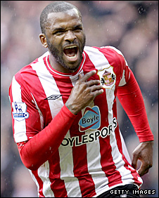 Sunderland and England striker Darren Bent