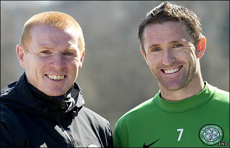 Neil Lennon and Robbie Keane