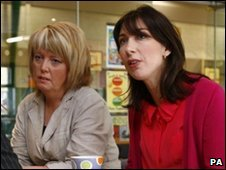 Helen Newlove and Samantha Cameron