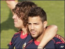 Puyol and Fabregas