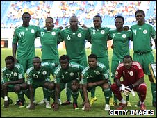 The Nigeria squad from the Africa Cup of Nations