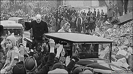 Winston Churchill in Plymouth 1941