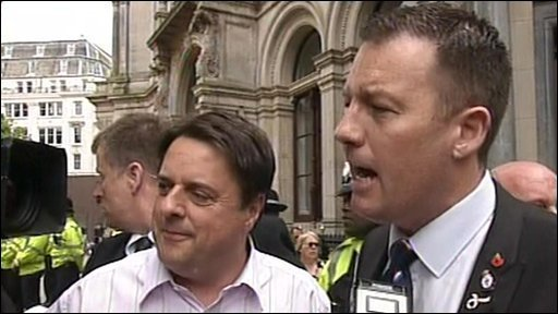 Nick Griffin with Adam Walker