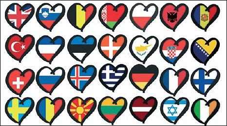 Eurovision flags