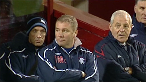 Rangers assistant manager Ally McCoist and manager Walter Smith